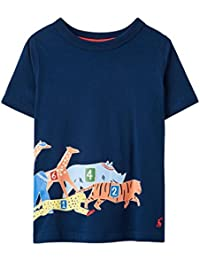 260621d21ac23 Joules Boys Ray 'Race' Navy Blue Short Sleeved Tee T-Shirt Top