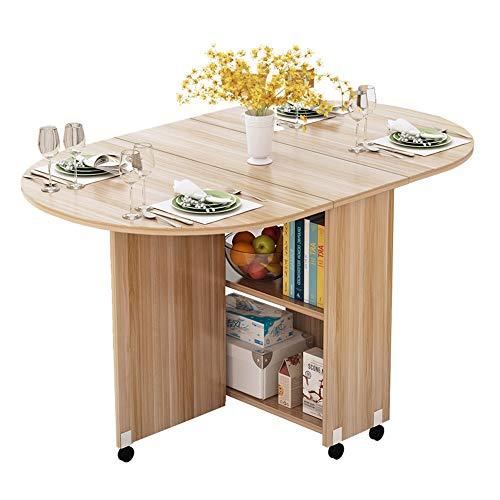 Table XIAOYAN Pliante avec roulettes de Repas Ronde Simple La de Mahjong Peut accueillir 4 à 6 Personnes