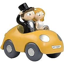 Mopec Y756 - Figura de pastel pareja de novios pop & fun en coche, 16 cm