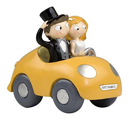 Mopec Y756 - Cake Figure Couple Bride and Pop & Fun Car, 16 cm