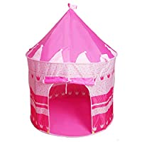 HJGHFH Children Play Tent Girls Castle For Indoor/Outdoor Use, Foldable Easy to carry With Storage bag