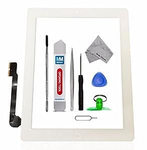 iPad 3 Digitizer Front Glas Display mit Rahmen und Werkzeugset MMOBIEL