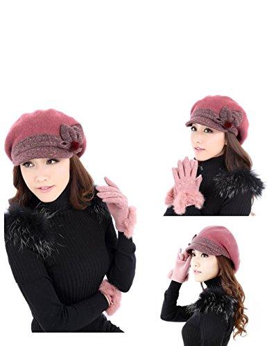 Coréen Mode Casual Automne Et Hiver Bandes élastiques Beret (cinq couleurs en option) ( couleur : 1# , taille : M(56-58cm) ) # 3