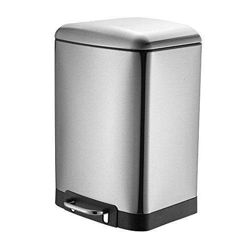 HAC24 30l Edelstahl Push Abfalleimer Küche   Single Mülleimer Treteimer   Mülltonne Abfallsammler   Abfallbehälter