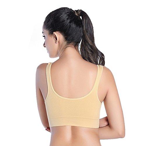 Keysui Femmes De Yoga Sports - Gym Soutien-gorge Vest Beige