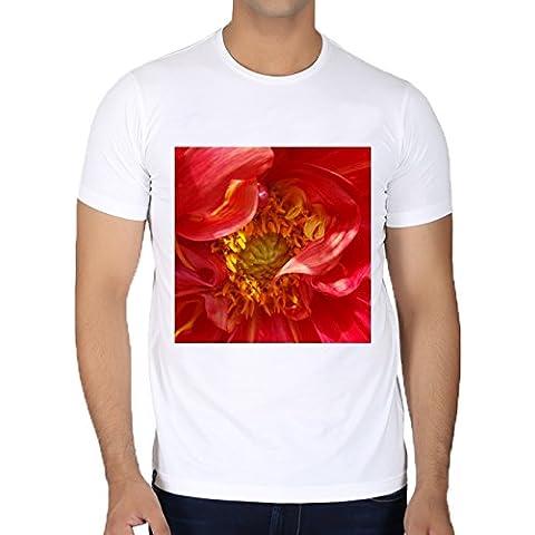 Camiseta Cuello Redondo para Hombre - Pétalos Rojos by feiermar