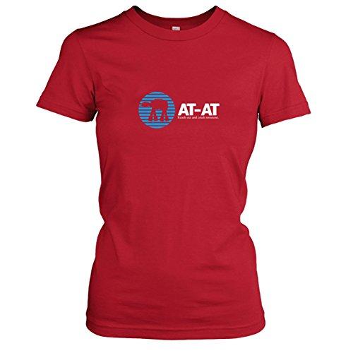 TEXLAB - AT AT Logo - Damen T-Shirt Rot