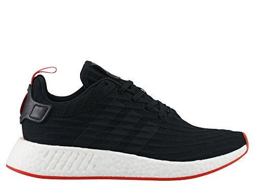 adidas Originals NMD_R2 PK, ftwr white-ftwr white-core red nero rosso