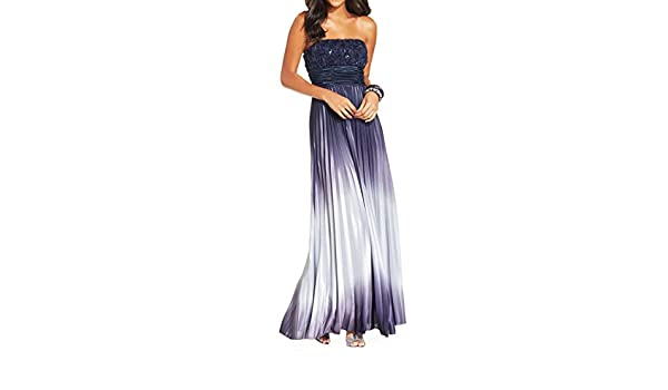 Speechless Womens Juniors Ombre Prom Evening Dress - Blue -: Amazon.co.uk: Clothing