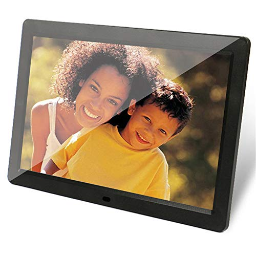 gital Photo Frame 1280x800 HD IPS Display Photo/Music/Video Player Kalender Alarm Auto On/Off Timer, Support USB und SD Card, Fernbedienung,Black ()