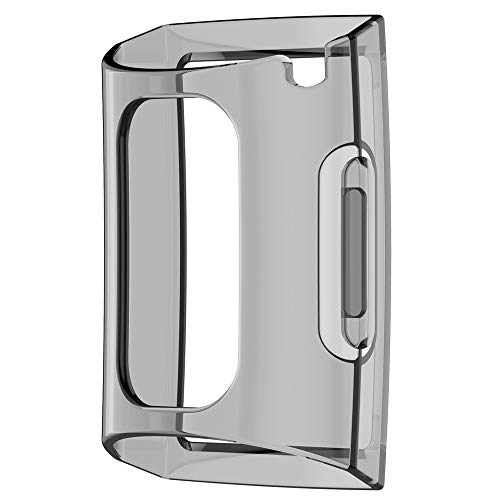 Vamoro Full Coverage Scratch-Proof Schutzhülle Schutz Ultra-Slim Clear TPU Protect Case Cover für Fitbit Charge 3(Schwarz)
