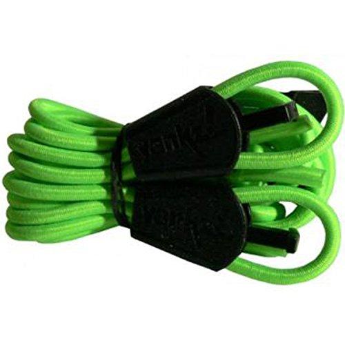 YANKZ - das Schnürstystem - Cordón de Zapatos Verde Verde neón Talla:Talla única