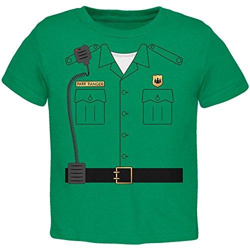 Old Glory Halloween-Forest Park Ranger Kostüm Kleinkind T Shirt Kelly Green 3 - Halloween-kostüm Green Ranger