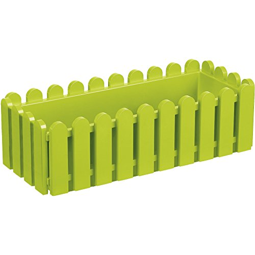 EMSA 506416 Blumenkasten LANDHAUS, UV-beständig, frostfest, Made in Germany, Grün, 47 x 20 x 16 cm (Green Garden Pot)
