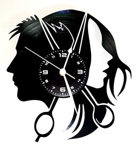 Instant Karma - Reloj de pared de disco de vinilo, LP de 33rpm, con diseño para peluquería o barbería