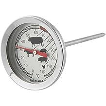 Fackelmann Termometro per Carne, Acciaio Inox, Argento, 11 x 5 cm