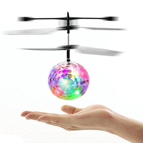 Kokome RC Fliegender Ball Infrarot Induktion Mini Flugzeug blinkende Licht entfernte Spielzeug für Kinder