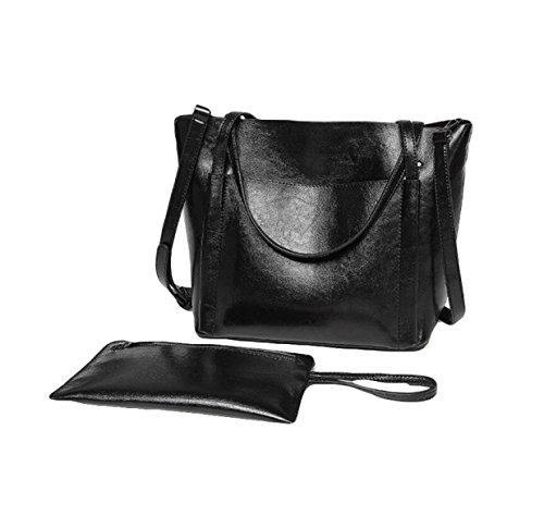 Art Und Weiseeinkaufenbeutelhandtasche Einfache Und Praktische Dame Kurierbeutel-Schulterbeutel Black