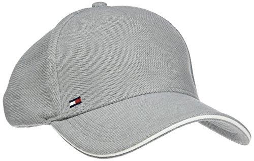Tommy Hilfiger Herren Baseball Pique Cap, Grau (Cloud Htr 901), One Size (Herstellergröße: OS)