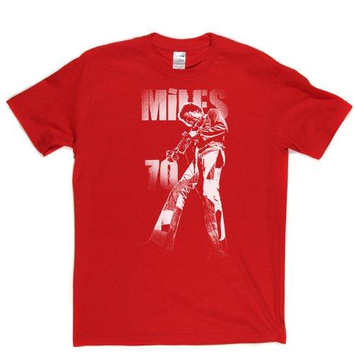 Miles 70 Jazz Music Tee T-shirt Rot