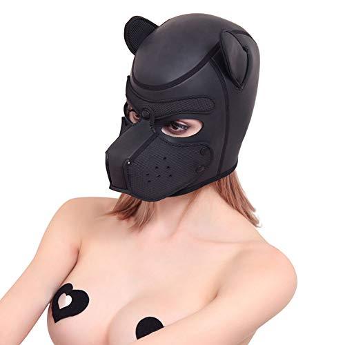 Sexual Kostüm Maske Kapuze Full Face Cover Hundekopfbedeckung -