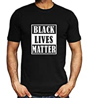 Negro Vive la Materia-I No Puedo Respirar Hombres Mujer Libertad Civil Derechos Tops Camiseta Corto Manga Blusas Vistiendo Cómodo / A5 / 2XL