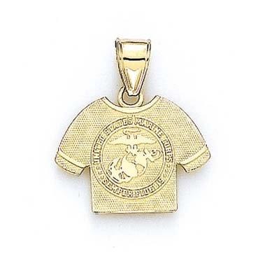 US Marines 14 Carats Pendentif Logo T-Shirt JewelryWeb