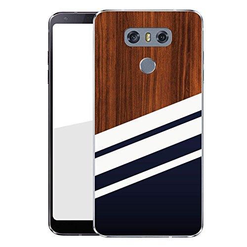 Finoo Hardcase Handyhülle für dein LG G6 Made In Germany Hülle mit Motiv und Optimalen Schutz Tasche Case Cover Schutzhülle für Dein LG G6 - Navy Holz