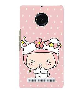 Girl blushing lot 3D Hard Polycarbonate Designer Back Case Cover for YU Yuphoria :: YU Yuphoria YU5010