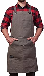 Hudson Durable Goods - Heavy Duty Waxed Canvas Apron, Adjustable up to XXL for Men & W