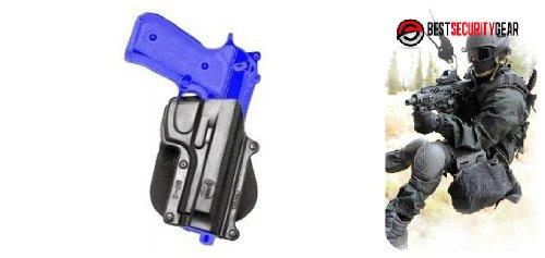 FOBUS Paddle Waffenholster in schwarz für Linkshänder LH, Paddle für BR2 FOBUS Holster Beretta 92 96 Taurus 92 99 CZ75-B 9mm FOBUS BR2-LH + Best Security Gear Magnet -