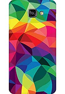 AMEZ designer printed 3d premium high quality back case cover for Samsung Galaxy A7 2016 (multi colour pattern)