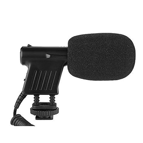 BOYA BY-VM01 Microphone Shotgun Professionnel Directionnelle Condensateur de Qualité de Diffusion pour Vidéo DSLR, Caméscope et Enregistreur Audio avec