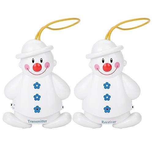 Bewinner Elterneinheit für Babyphone, Schneemann Wireless Baby Cry Detector Säugling Weinen Alarm,Baby Monitor Transmitter+Receiver für Mütter/Kindermädchen