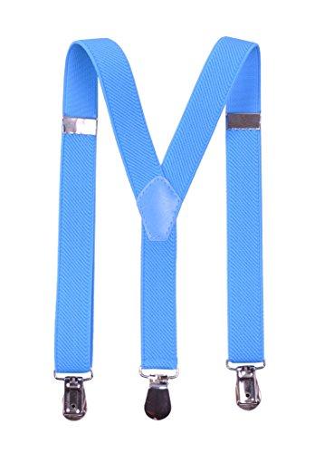 Paolo Udini Bretelles Élastiquée Pour Les Enfants 0-3 Ans Y-Forme 2cm Turquoise