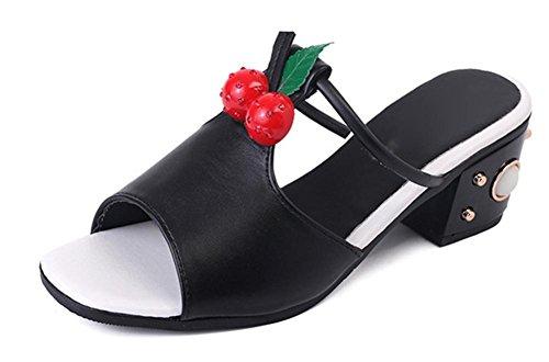 Römersandale Frauen im Sommer mit Sandalen und Pantoffeln Wort Drag Frau fashion Sandalen mit dicken Black