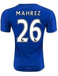 2016Leicester City 26riyâd Mahrez Home Jersey de Football en bleu