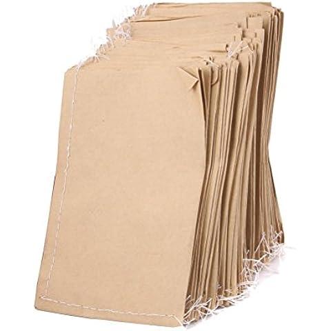 Tinksky Sacchi di sementi di carta Kraft 100pcs per immagazzinaggio del seme di cibo