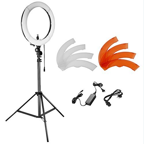 Neewer Kamera Foto Studio YouTube Video Beleuchtung Kit: 18 Zoll / 48 Zentimeter 55W Dimmbar LED SMD...