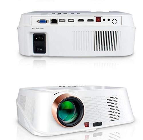 leader Kommerzieller geführter tragbarer Projektor, 1080p Büroprojektor, 4000 Lumen, 150 W, Bluetooth 4.0, Android 6.0, Zwei Stereolautsprecher, weiß