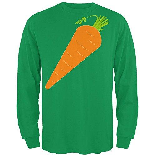 Halloween Gemüse Karotte Kostüm Mens Long Sleeve T Shirt Irish Green MD (Irish Halloween Kostüme)