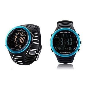 Hombres deportivo digital, reloj inteligente con reloj del altímetro barómetro IP67 a prueba de agua termómetro digital del monitor del tiempo Escalada Trekking excursión que acampa al aire libre