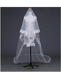 EQLEF® 5 mètres de long simple couche de broderie de dentelle de fleur Bord de mariage nuptiale Veil Pour