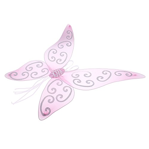 metterlings Flügel Elfenflügel Feenflügel Fee Flügel Kostüm für Erwachsene Kinder, Lila / Rosa - Rosa (Rosa Schmetterlings Flügel Für Erwachsene)