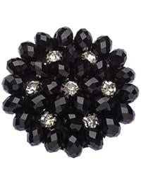 La Loria 2 Shoe Clips Woman Black Beauty Shoe Jewelry Shoe Brooches elegant Black