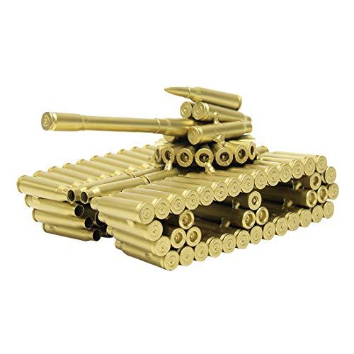 Bulle Shell Tank Modell - Gold in Farbe Gun Bulle Shell Gehäuse Form Modell Grund Force Panzer Tank Militär Geschenk (Gold Panzer Kostüm)
