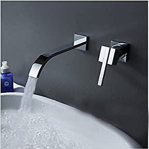 Retro Deluxe Wallmounted Fauceting lavabo Grifo 2 piezas Conjunto grifo mezclador armario empotrado baño Grifo de agua…