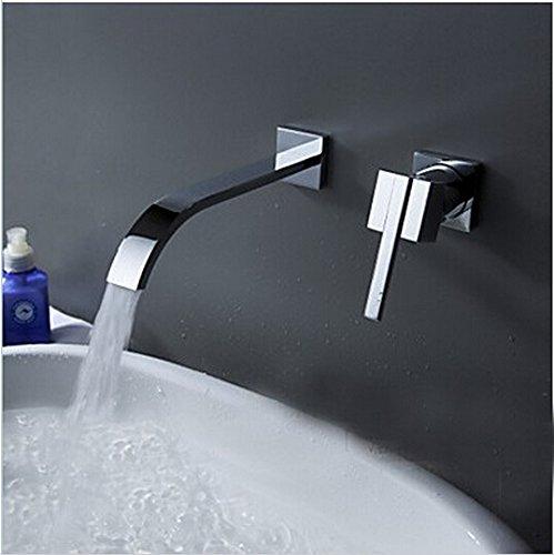 Retro Deluxe Wallmounted Fauceting lavabo Grifo 2 piezas Conjunto grifo mezclador armario...