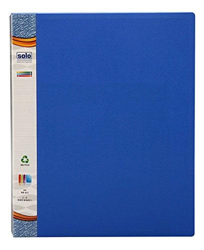 Solo A43D Ring Binder Clip Datei blau Ordner hält bis 250Blatt Dokument Ordner Office Supplies blau (Blau D Ring Binder)
