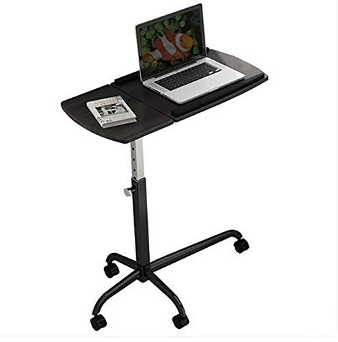 WY ZDDNZ Mobiler Computertisch, Stand Up Nachttisch, Höhenverstellbar  Drehbares Tablett, Geeignet